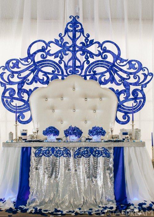 Королевское синее оформление